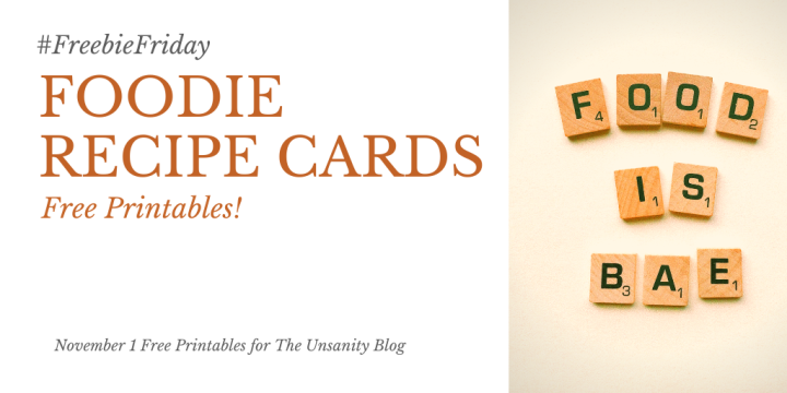 #FreebieFriday – Foodie Recipe Cards
